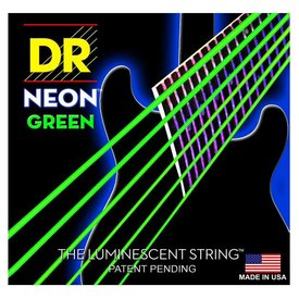 DR Strings DR Strings NGE-9 Light Hi-Def NEON GREEN: Coated Electric: 9, 11, 16, 24, 32, 42
