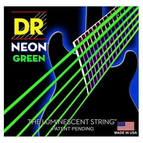DR Strings NGE-9 Light Hi-Def NEON GREEN: Coated Electric: 9, 11, 16, 24, 32, 42