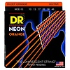 DR Strings NOE-10 Med Hi-Def NEON ORANGE Coated Electric: 10, 13, 17, 26, 36, 46