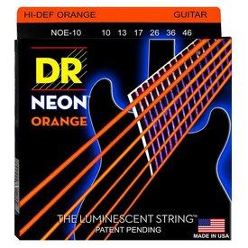 DR Strings DR Strings NOE-10 Medium Hi-Def NEON ORANGE: Coated Electric: 10, 13, 17, 26, 36, 46