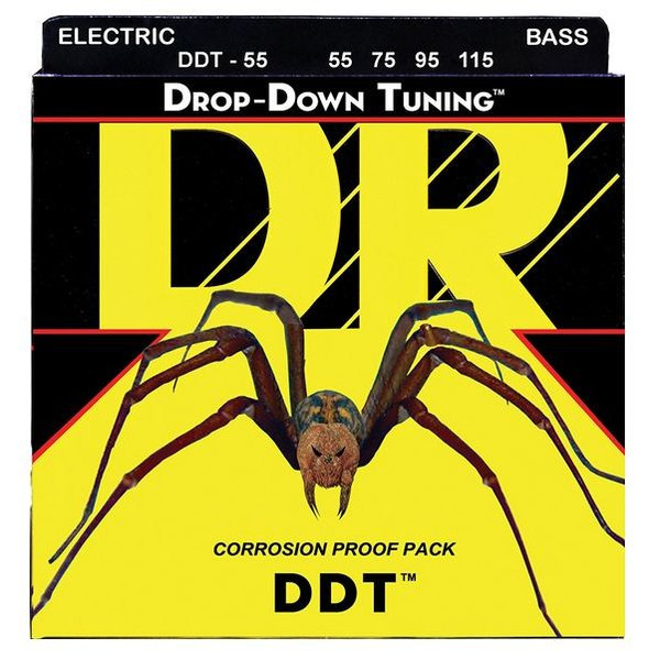 DR Handmade Strings DR Strings DDT-55 Heavier DDT: Drop Down Tuning: 55, 75, 95, 115