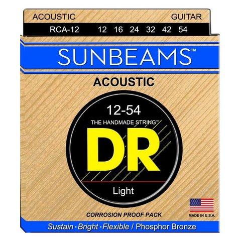 DR Strings RCA-12 Light SUNBEAM Phosphor Bronze Acoustic: 12, 16, 24, 32, 42, 54