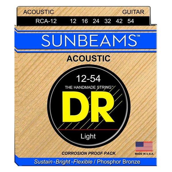 DR Strings DR Strings RCA-12 Light SUNBEAM Phosphor Bronze Acoustic: 12, 16, 24, 32, 42, 54