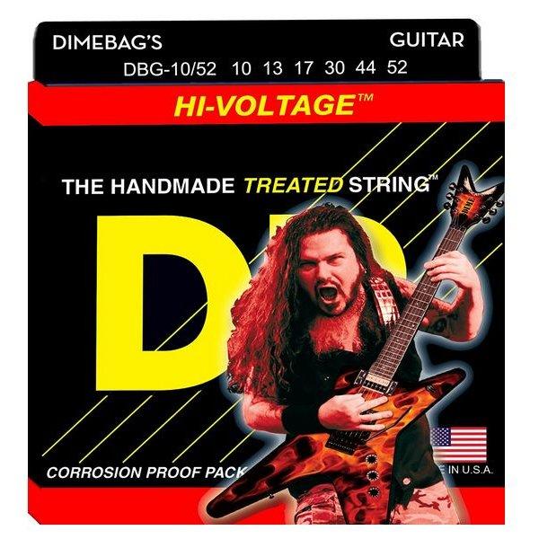 DR Strings DR Strings DBG-10/52 Big/Hvy Dimebag Darrell Nickel Pltd: 10, 13, 17, 30, 44, 52