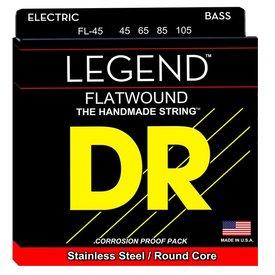 DR Strings DR Strings FL-45 Medium Hi-BEAM FLATS - Flatwound Stainless Steel Bass: 45, 65, 85, 105
