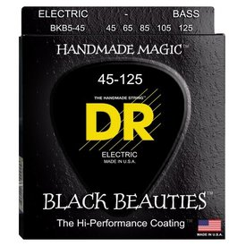 DR Strings DR Strings BKB5-45 Medium 5's BLACK BEAUTIES  - BLACK Coated Bass: 45, 65, 85, 105, 125