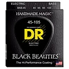 DR Strings BKB-45 Medium BLACK BEAUTIES  - BLACK Coated Bass: 45, 65, 85, 105