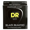 DR Strings BKE-9 Light-Tight BLACK BEAUTIES Coated Elec: 9, 11, 16, 24, 32, 42