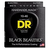 DR Strings BKE-10 Med BLACK BEAUTIES Coated Electric: 10, 13, 17, 26, 36, 46