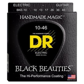 DR Strings DR Strings BKE-10 Med BLACK BEAUTIES Coated Electric: 10, 13, 17, 26, 36, 46