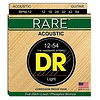 DR Strings RPM-12 Light RARE - Phosphor Bronze Acoustic: 12, 16, 24, 32, 42, 54
