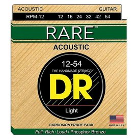 DR Handmade Strings DR Strings RPM-12 Light RARE - Phosphor Bronze Acoustic: 12, 16, 24, 32, 42, 54