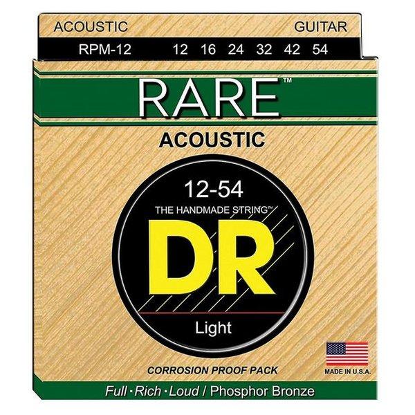 DR Handmade Strings DR Strings RPM-12 Light RARE - Phosphor Bronze Acoustic: 12, 16, 24, 32, 42, 54
