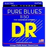 DR Strings PHR-11 Heavy PURE BLUES Pure Nickel Electric: 11, 14, 18, 28, 38, 50