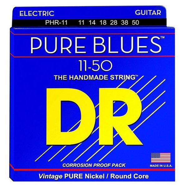 DR Strings DR Strings PHR-11 Heavy PURE BLUES Pure Nickel Electric: 11, 14, 18, 28, 38, 50