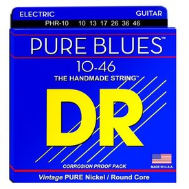 DR Strings DR Strings PHR-10 Medium PURE BLUES Pure Nickel Electric: 10, 13, 17, 26, 36, 46