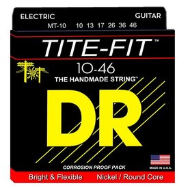 DR Strings DR Strings MT-10 Med Tite-Fit Nickel Plated Electric: 10, 13, 17, 26, 36, 46