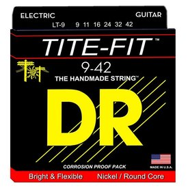 DR Strings DR Strings LT-9 Light Tite-Fit Nickel Plated Electric: 9, 11, 16, 24, 32, 42