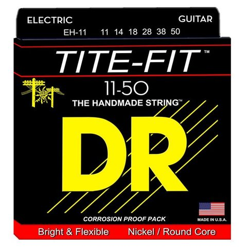 DR Strings EH-11 Heavy Tite-Fit Nickel Plated Electric: 11, 14, 18, 28, 38, 50