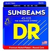 DR Strings NMR-45 Medium SUNBEAM  - Nickel Plated Bass: 45, 65, 85, 105