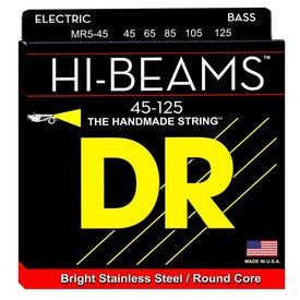 DR Strings DR Strings MR5-45 Medium 5's HI-BEAM  - Stainless Steel: 45, 65, 85, 105, 125