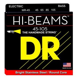 DR Strings DR Strings MR-45 Medium HI-BEAM  - Stainless Steel: 45, 65, 85, 105