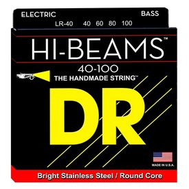 DR Strings DR Strings LR-40 Light HI-BEAM  - Stainless Steel: 40, 60, 80, 100