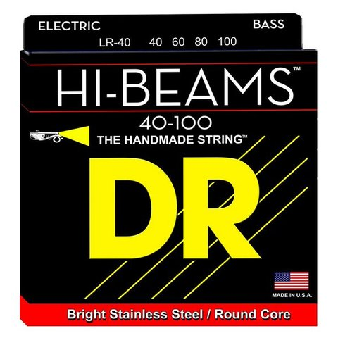 DR Strings LR-40 Light HI-BEAM  - Stainless Steel: 40, 60, 80, 100
