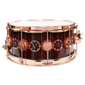 DW DW Drum Workshop DREX6514SSP-TM Neil Peart Time Machine Exotic Snare Drum Copper Hardware