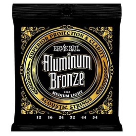 Ernie Ball 2566 Ernie Ball Aluminum Bronze Acoustic Strings .012-.054 Medium Light