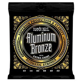 Ernie Ball 2570 Ernie Ball Aluminum Bronze Acoustic Strings .010-.050 Extra Light