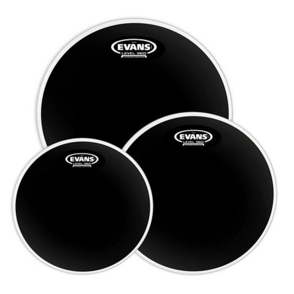 Evans Evans Black Chrome Tompack, Fusion (10 inch, 12 inch, 14 inch)