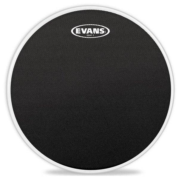 Evans Evans Hybrid-S Black Marching Snare Drum Head, 14 Inch