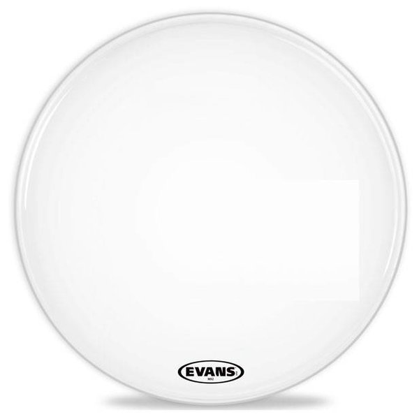 Evans Evans MX2 White Marching Bass Drum Head