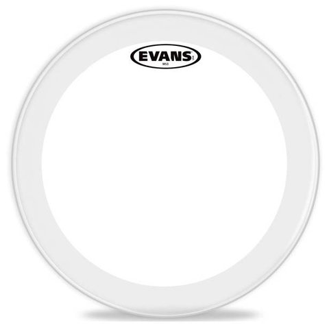 Evans MS3 Clear Marching Snare Side Drum Head, 13 Inch