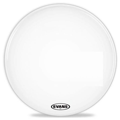 Evans MS1 White Marching Bass Drum Head