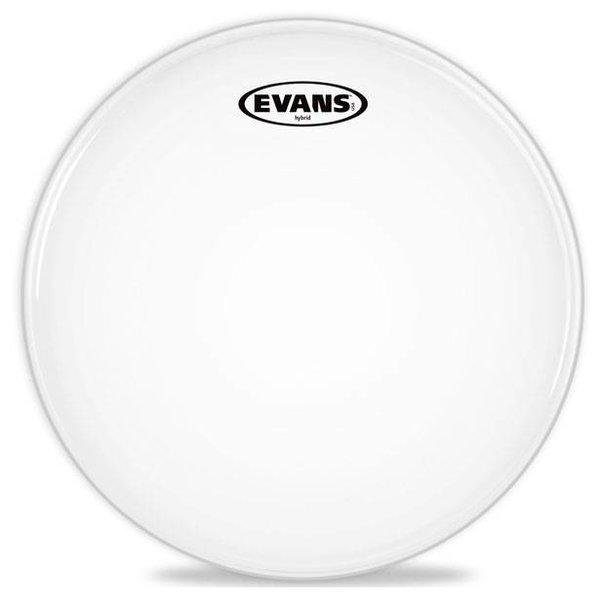 Evans Evans Hybrid White Marching Snare Drum Head, 13 Inch