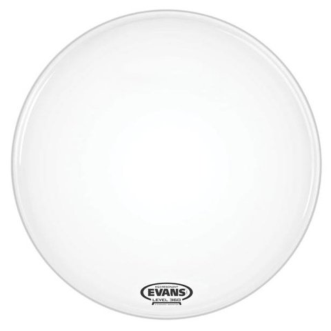 Evans EQ3 Resonant Smooth White Bass Drum Head, No Port, 20 Inch