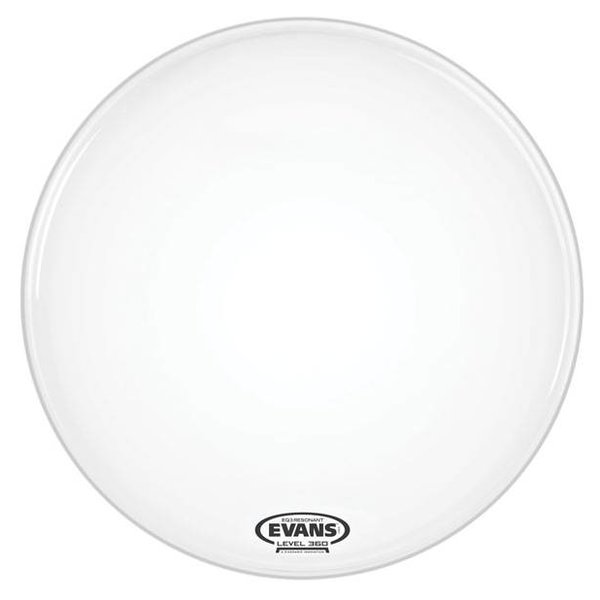 Evans Evans EQ3 Resonant Smooth White Bass Drum Head, No Port, 20 Inch