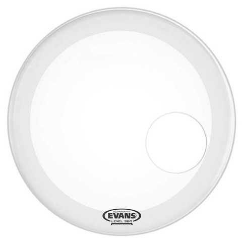 Evans EQ3 Resonant Smooth White Bass Drum Head
