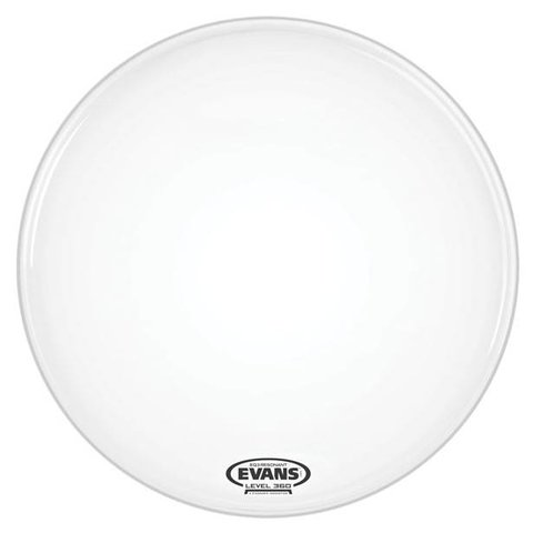 Evans EQ3 Resonant Coated White Bass Drum Head, No Port