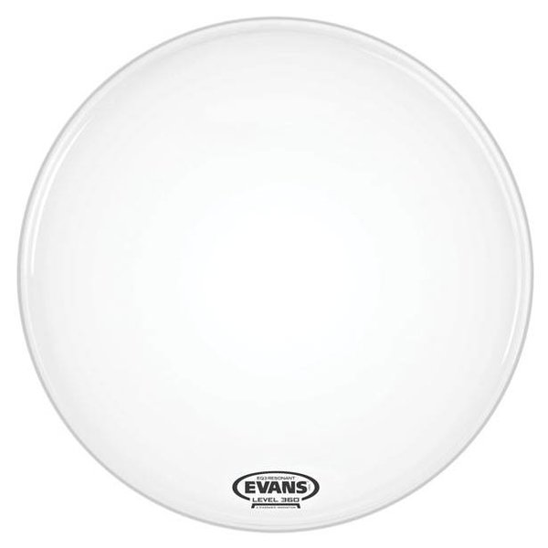 Evans Evans EQ3 Resonant Coated White Bass Drum Head, No Port