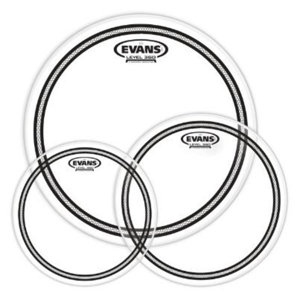 Evans Evans EC2 Tompack, Clear, Standard (12 inch, 13 inch, 16 inch)