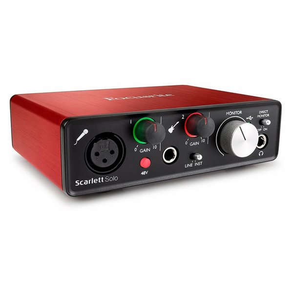 Focusrite Focusrite Scarlett Solo 2nd Generation USB 2.0 Audio Interface 2-in / 2-out
