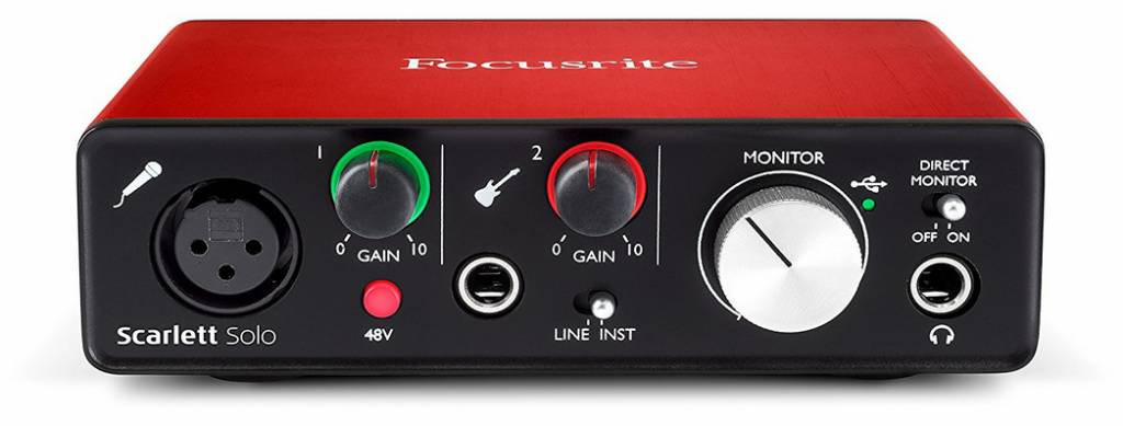 focusrite focusrite scarlett solo 2nd generation usb 2 0 audio interface 2 in 2 out melody. Black Bedroom Furniture Sets. Home Design Ideas