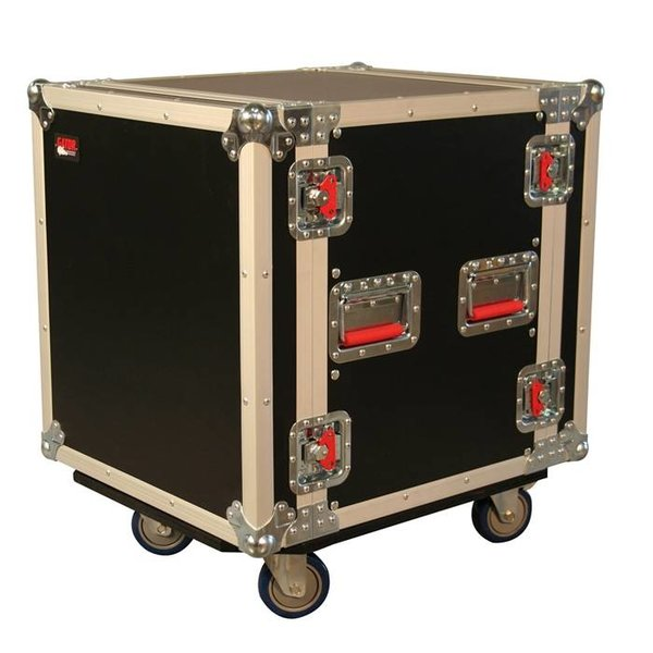 Gator Gator G-TOUR 12U CAST 12U, Standard Audio Road Rack Case w/ Casters