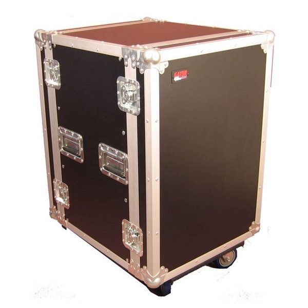 Gator Gator G-TOUR 16U CAST 16U, Standard Audio Road Rack Case w/ Casters