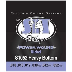 SIT SIT S1052 Heavy Bottom Power Wound Nickel Electric Guitar Strings .010-.052