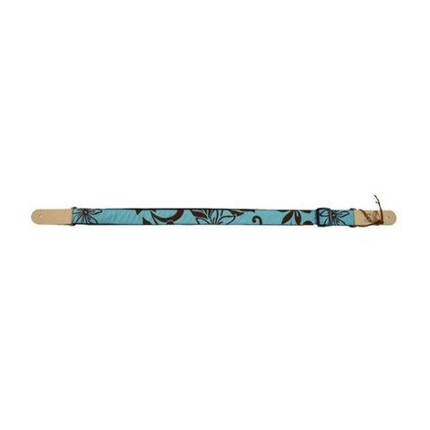 Kala STP-Turquoisehybiscus Ukulele Straps Handmade In Usa