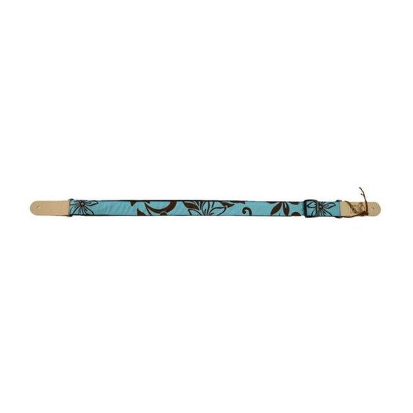 Kala Kala STP-Turquoisehybiscus Ukulele Straps Handmade In Usa